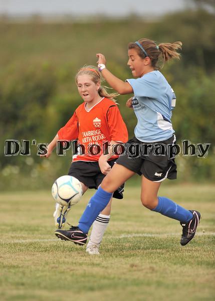Cambridge U12 Girls Soccer - August 19, 2010