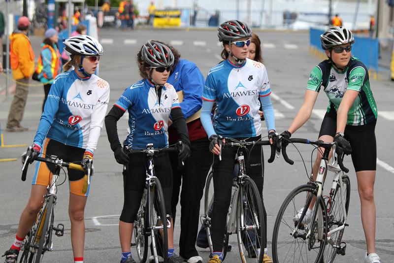 l-r: Kaylynn Purdy, Tarryn Cote, Christina Moser, Marcy Bennett