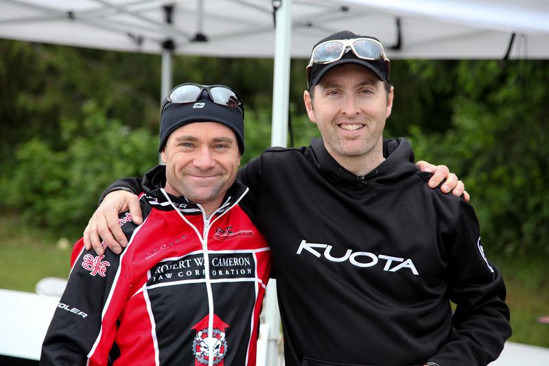 Bob Cameron (aka Robert W Cameron),sponsor of series and Jon Watkin, Race Director