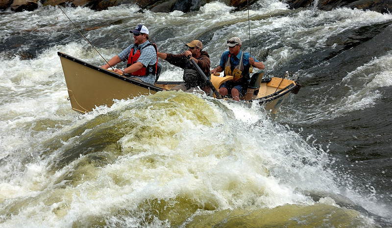 Fishing the  rapids