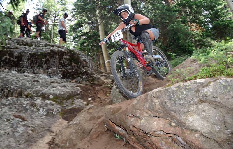 Downhill girl