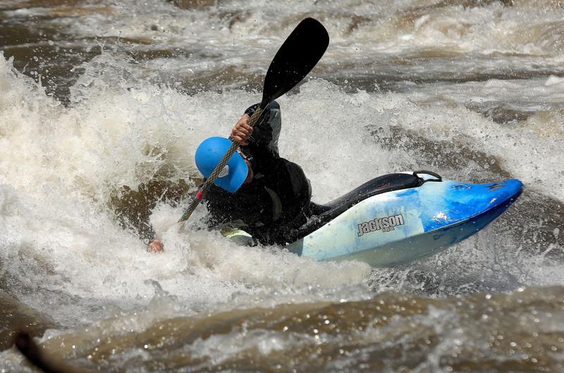 Freestyle kayak on Gunnison river