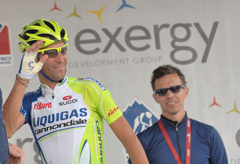 Vicenzo Nibali ( Liquigas - Cannondale team )  3rd in 2012 Tour de France....Winner of Vuelta of Espana 2010