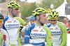 Liquigas/Cannondale team ( Ivan Basso , Paolo Longo Borghini , Vicenzo Nibali )