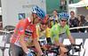 Tom Danielson ( red jersey , best climber, winner of the third stage Gunnison-Aspen ) Tejay Van Garderen ( yellow jersey , leader and winner of the second stage Montrose-Mt Crested-Butte) Tyler Farrar ( Green jersey , point ranking leader ,winner of the first stage Durango-Telluride , winner of stage 5 Breckenridge - Colorado Spring)