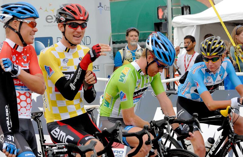 Tom Danielson   Usa ( Red jersey : best climber ) Tejay Van Garderen Usa  (  Yellow jersey : overall leader) Tyler Farrar  Usa ( Green jersey : sprint leader ) Joseph Lloyd Dombrowski Usa ( Blue jersey : best young rider )