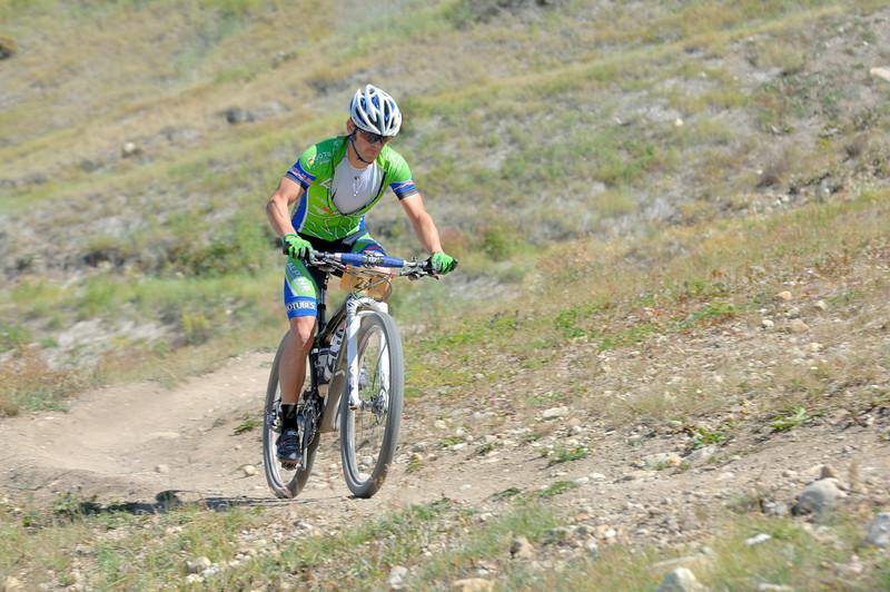 Alpine Odyssey 2012 . Stewart Gross ( 16th overall in 4h43mn54s )