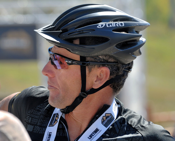 Alpine Odyssey 2012 . Lance Armstrong after the race