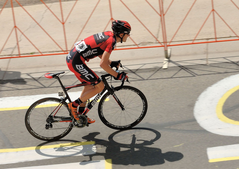 Tejay Van Garderen , leading on the climb to Mt Crested-Butte