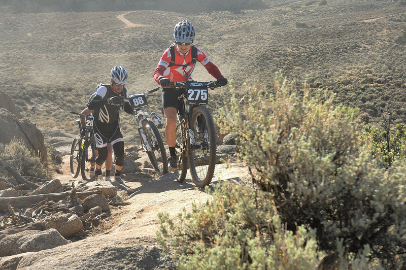 Full Growler Race (Gunnison 2012) 64 miles...Ross Janet (in red) 18th 8h23mn36s...Hayes Charlie 71th 6h5311s