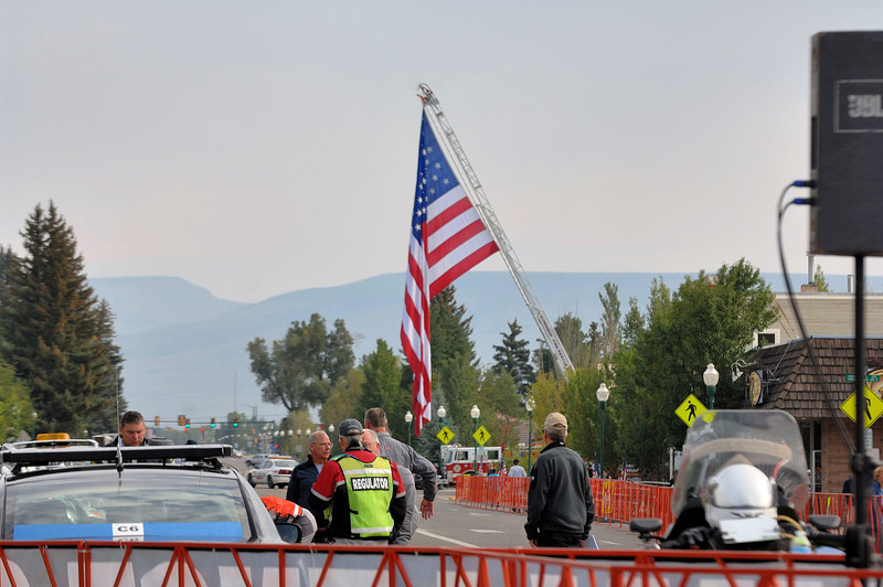 Before the start of the Queen stage Gunnison-Aspen