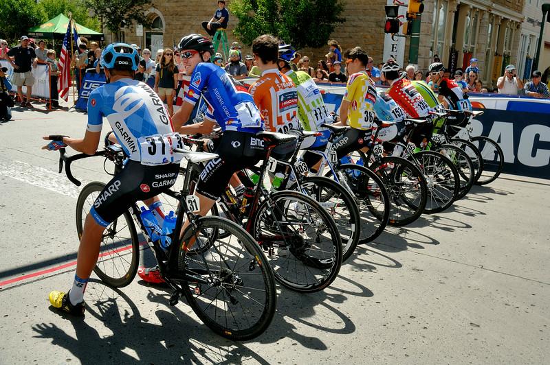 Before  the start ( Stage 3 :  Gunnison - Monarch )
