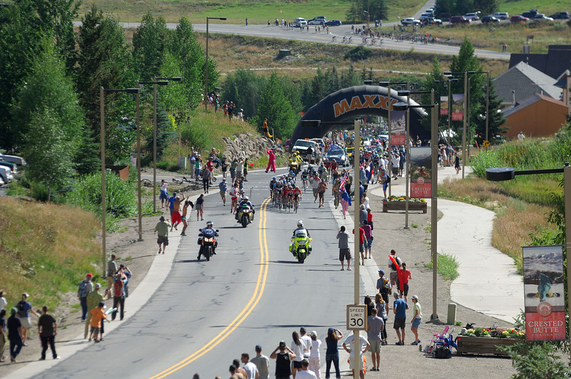 usa pro cycling challenge 2011 . 23 august climbing to Mt Crested Butte
