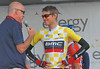 Tejay Van Garderen  before 3rd stage start ( Gunnison-Aspen ) wearing the leader yellow jersey...he finish 5th in 2012 Tour de France and also won the best young rider