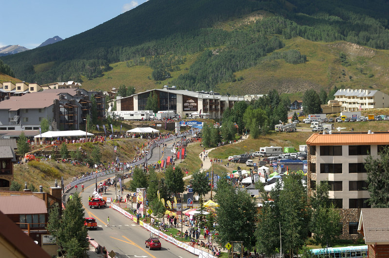 Finishing line in Mount Crested-Butte