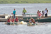 Canada Day Canoe Races on the Moose River in Moosonee, Ontario 2011 July 1st.