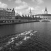 Parade swimming.<br /> Center; the Stock Exchange and in the back: Christiansborg castle - the parliament.