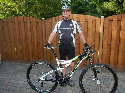Patrick met zijn nieuwe fiets.