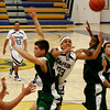 Capital High Jacguars vs Albuquerque Bulldogs at the Toby Roybal Gymnasium.  Bulldogs won 44-39<br /> Photos by Jane Phillips/The New Mexican