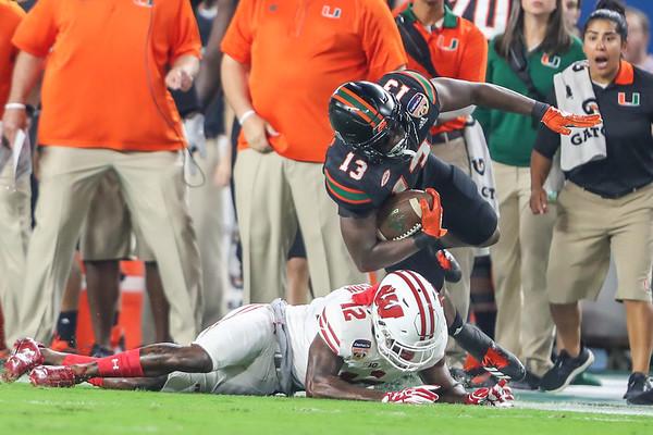2017 Capital One Orange Bowl.  University of Miami vs. Wisconsin.