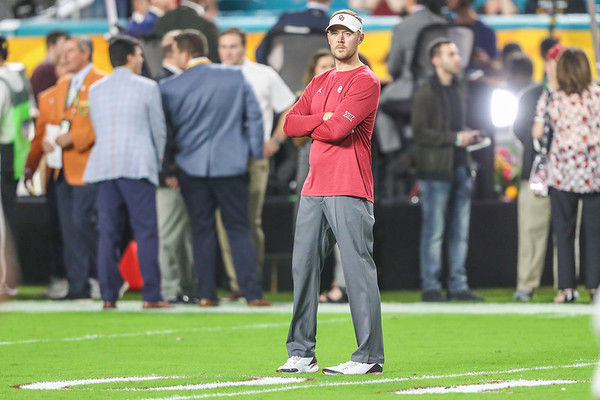 Coach Lincoln Riley during the 2018 Capital One Orange Bowl at Hard Rock Stadium on December 29, 2018 in Miami Gardens, Florida.