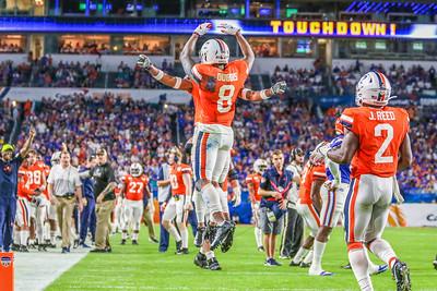 Miami Gardens, Florida-December 30, 2019:  Virginia Cavaliers wide receiver Hasise Dubois (8)   during the Capital One Orange Bowl at Hard Rock Stadium on December 30, 2019 in Miami Gardens, Florida.