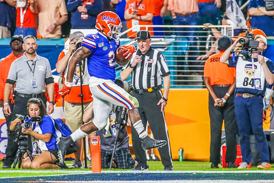 Miami Gardens, Florida-December 30, 2019:  Florida Gators wide receiver Dionte Marks (22) during the Capital One Orange Bowl at Hard Rock Stadium on December 30, 2019 in Miami Gardens, Florida.