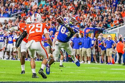 Miami Gardens, Florida-December 30, 2019:  Florida Gators tight end Kyle Pitts (84)  during the Capital One Orange Bowl at Hard Rock Stadium on December 30, 2019 in Miami Gardens, Florida.