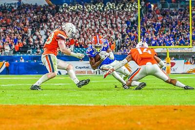 Miami Gardens, Florida-December 30, 2019:  Florida Gators wide receiver Van Jefferson (12)   during the Capital One Orange Bowl at Hard Rock Stadium on December 30, 2019 in Miami Gardens, Florida.
