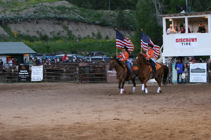 Present the colors at carbondale wildwest rodeo
