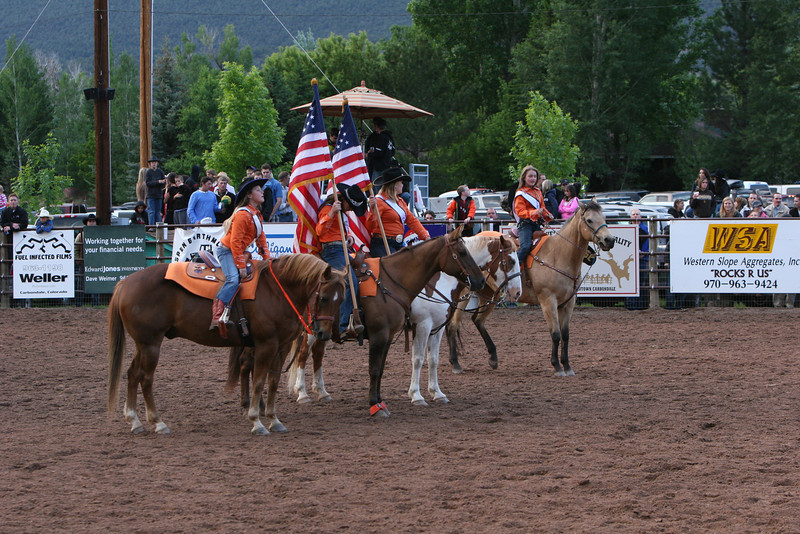 Presenting the colors Carbondale Wildwest Rodeo