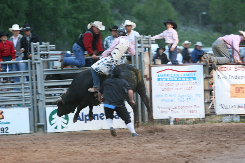 jesse fortnor at the carbondale wildwest rodeo