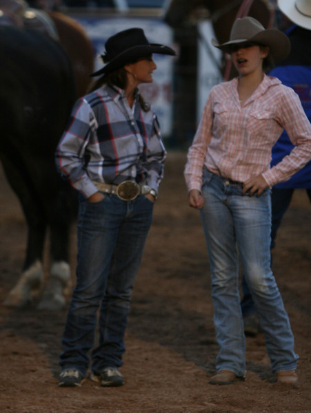 Two participants in the Catch it calf contest wait their turns carbondale wildwest rodeo