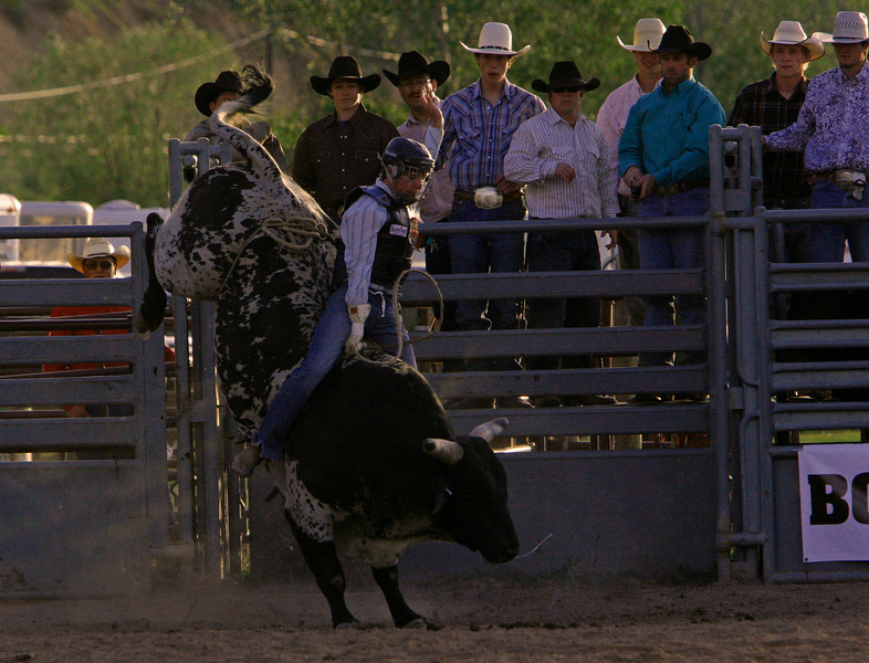 This was  a great bull ride also but not long enough to score