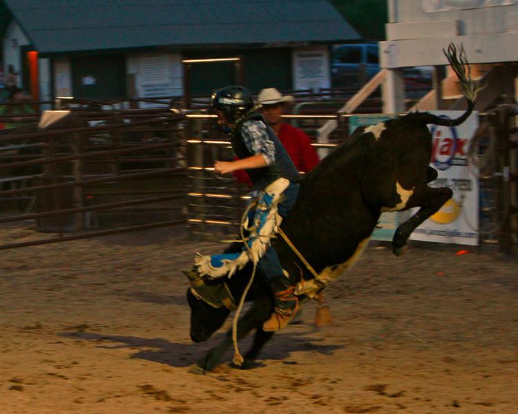 Nice ride by a junior calf rider