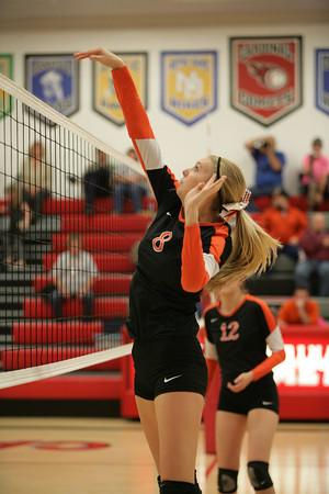 Cardinal High School Girs Volleyball Triangular Tournament Game Action