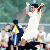 Neosho's Anderson Estrada heads the ball against Carl Junction Monday evening, Sept. 23, 2013, at Carl Junction's field.<br /> Globe | T. Rob Brown
