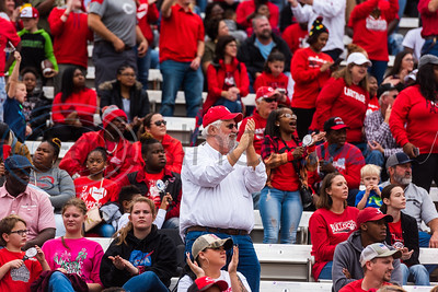 Carthage fans celebrate in the Stans following a play during playoff action against Crandall Friday, Nov. 29, 2019, at Chirstus Trinity Mother Frances Rose Stadium in Tyler. (Cara Campbell/Tyler Morning Telegraph)