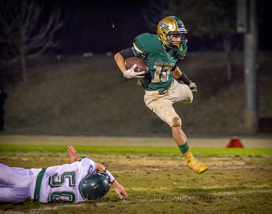 Casa Grande #10 leaps over a Miramonte defender on a punt return in the third quarter.