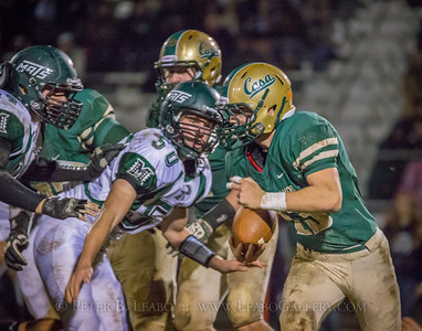 Casa Grande #13 breaks loose for a first down in the fourth quarter against Miramonte.