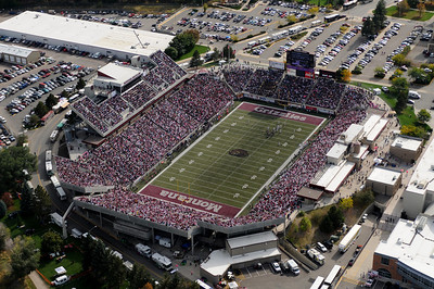 Aerial Photo of Grizzly Stadium in Missoula October 9, 2010