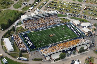 Aerial Photo of Bobcat Stadium Bozeman Montana