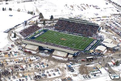 Aerial Photo of Bobcat Stadium Bozeman Montana Cat-Griz Game 2009
