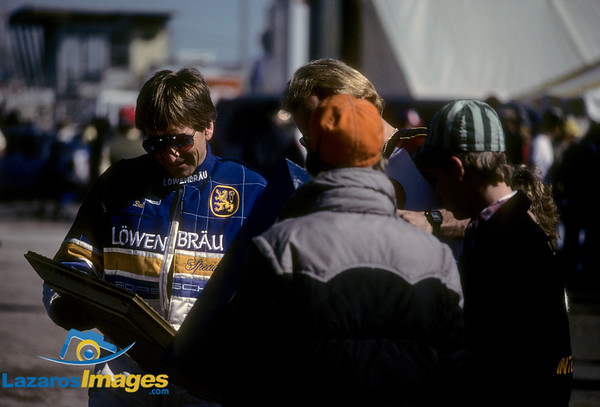 Derek Bell<br /> Winner 24 Hr Daytona, 1986<br /> Kodachrome