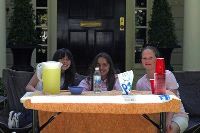 Lemonade stand on the finishing straight