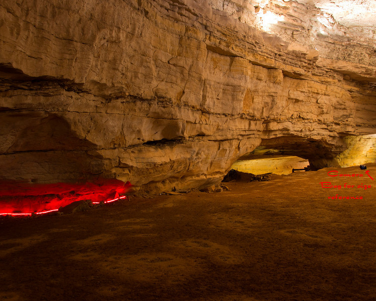 Photo for perspective in large room of Saltpeter Cave