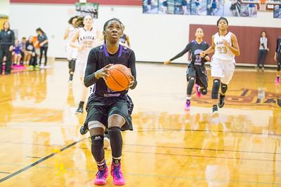 Cedar Ridge's Lashann Higgs drives towards the basket Friday against Rouse at Rouse High School.
