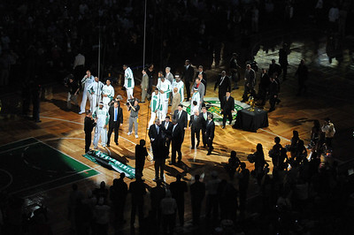 Celtics-Raising the banner-10/28/2008