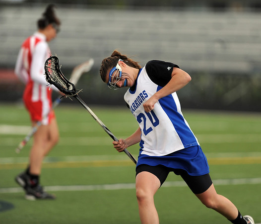 """Emma Lazaroff of Centaurus celebrates one of her goals against Regis Jesuit on Friday.<br /> For more photos of the game, go to  <a href=""""http://www.dailycamera.com"""">http://www.dailycamera.com</a>.<br /> Cliff Grassmick / May 14, 2010"""