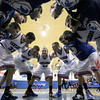 "The Centaurus High School Boys Basketball team huddles up before the playing Longmont High School on Wednesday, Jan. 4, during a basketball game at Centaurus High School in Lafayette. Longmont won the game 46-38. For more photos of the game go to  <a href=""http://www.dailycamera.com"">http://www.dailycamera.com</a><br /> Jeremy Papasso/ Camera"